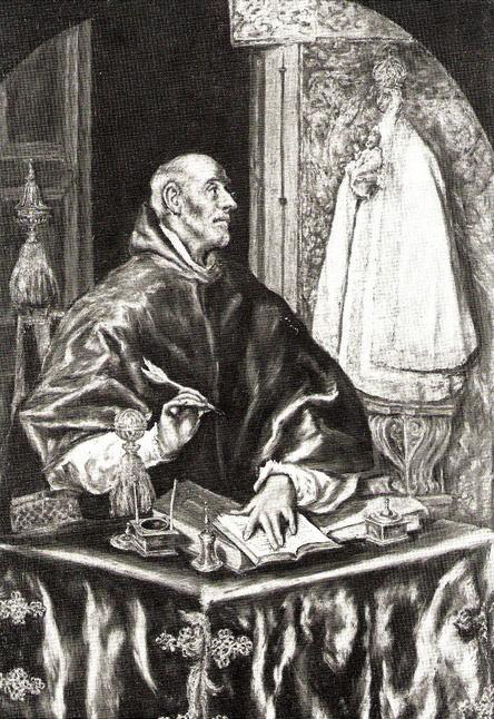 Св.Ильдефонсо за письменным столом