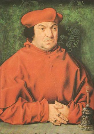Кардинал Бернардус Клэсиус с ручным колокольчиком