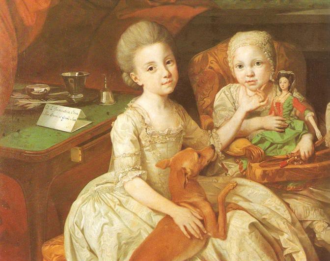 Принц Людовик Пармский со своими тремя старшими сестрами