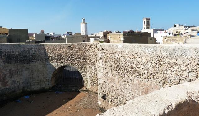 Вид на морские ворота и медину