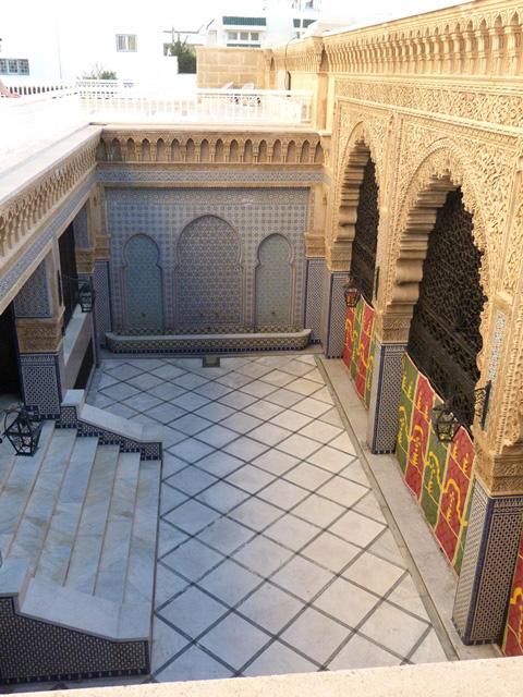 Мавзолей Мохаммеда V дворик