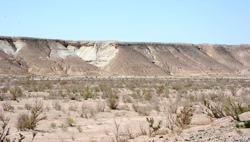 Вид на плато Устюрт