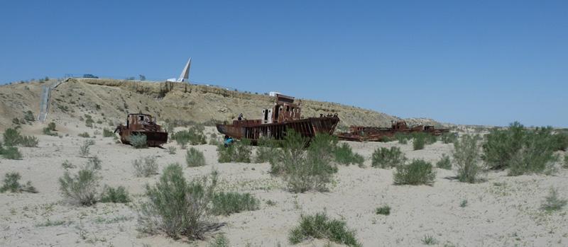 Набережная Муйнака и кладбище кораблей