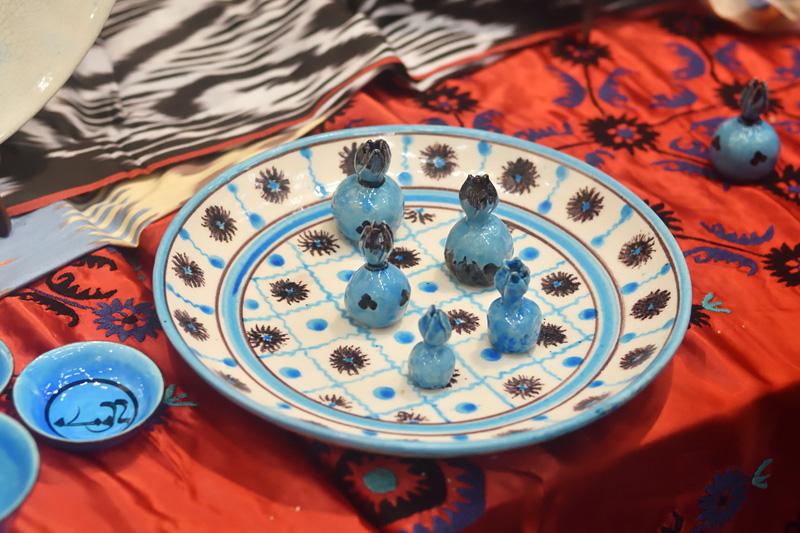 Бухарская голубая керамика
