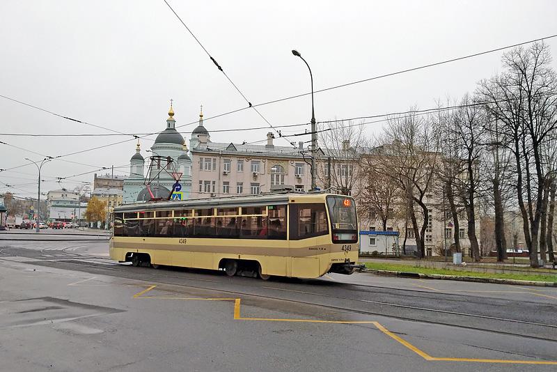 Сергиевский храм и трамвай. Вид с трамвайной остановки