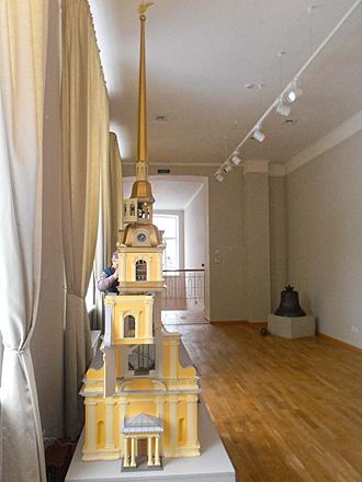 Действующий макет Петропавловской башни