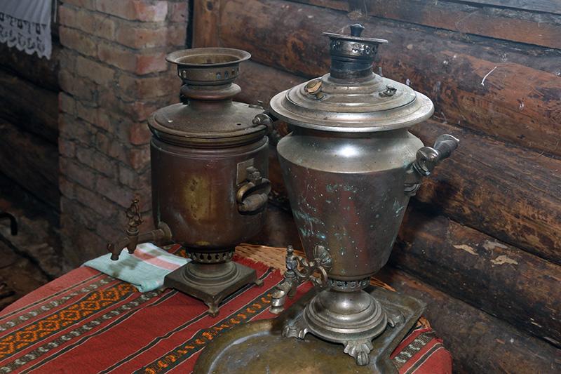 Музей деревенского быта. Самовары