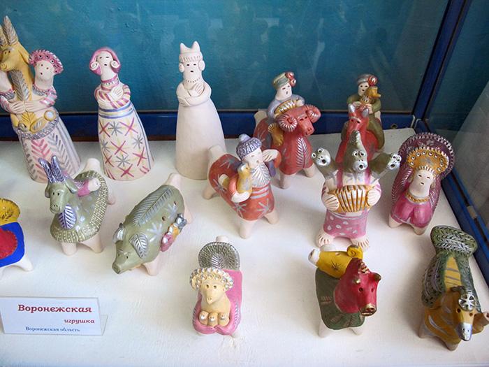 Одоев. Музей филимоновской игрушки. Воронежская игрушка