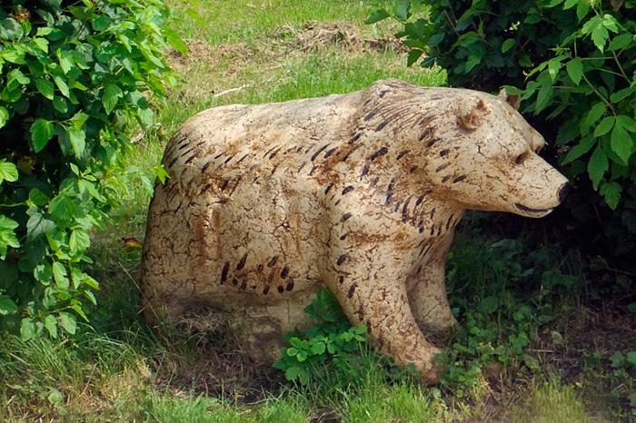 Скопинская керамика. Медведь