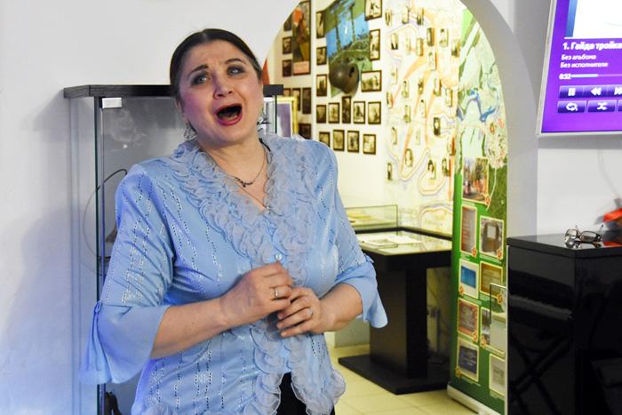 На закрытии выставки колокольчиков