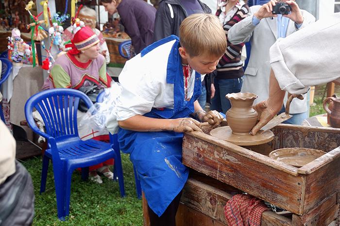 На фестивале Русское поле