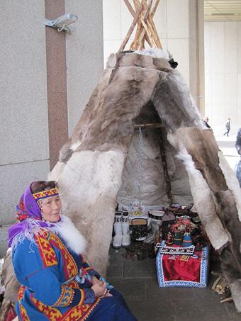 На фестивале народных промыслов Жар-птица. Чума