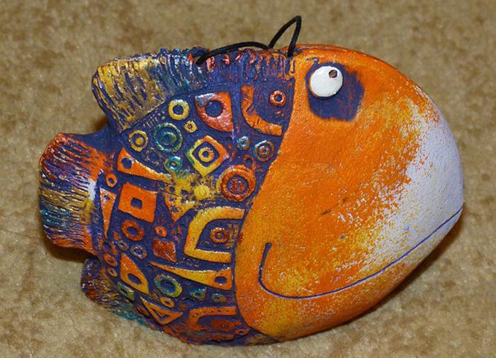 Творческая мастерская цветная рыба