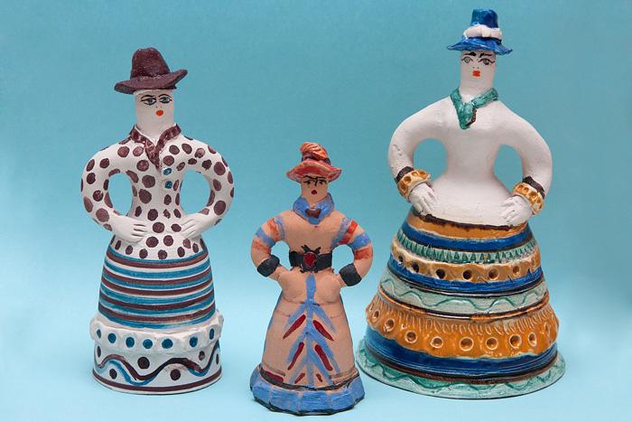 Колокольчики в традициях старооскольской глиняной игрушки